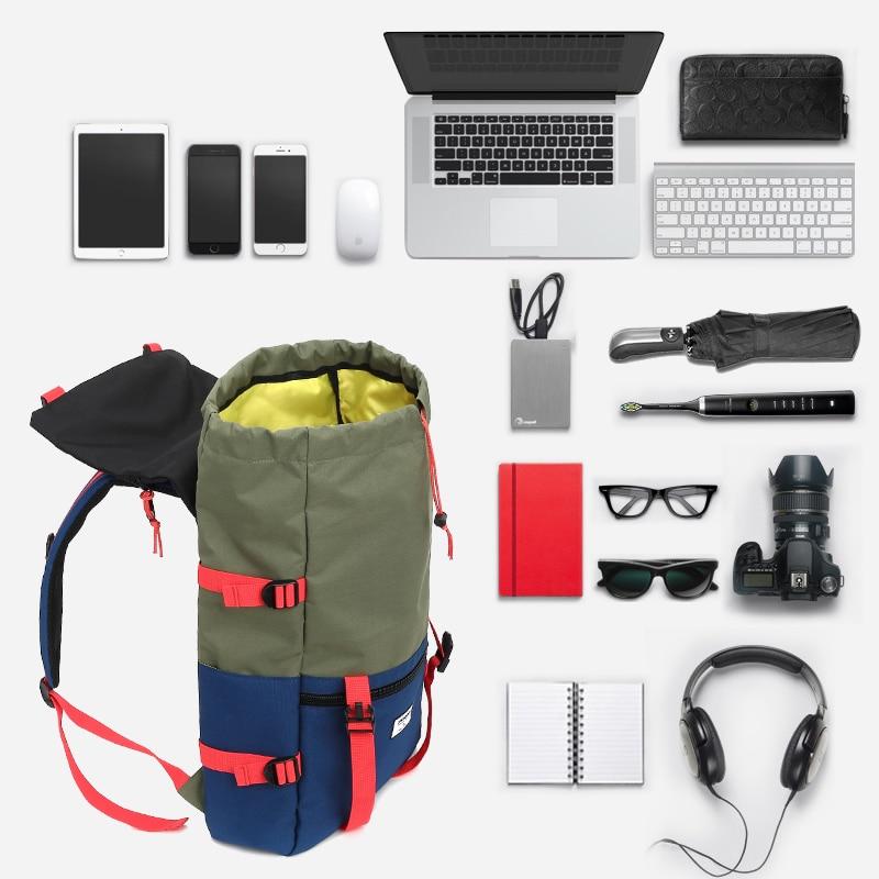 KINGSLONG Travel Men Waterproof Drawstring Bag America Backpack for Laptop Male Large Capacity Bag for Teenagers KLB1342-6 13