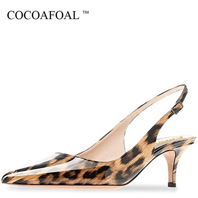 7b71929f5e0 COCOAFOAL Women Purple Heels Leopard Sandals Plus Size 43 44 Low Heel Shoes  Leopard Sandals Sexy Green Summer Red Wedding Pumps
