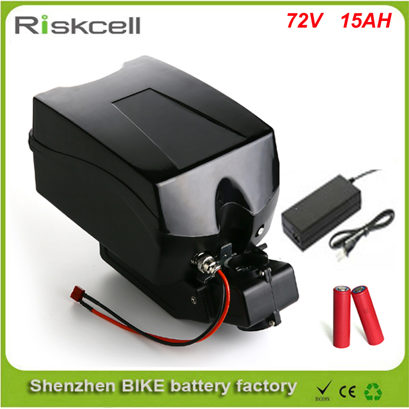 Free customs taxes  72v 15ah electric bike battery 72v 2000w lithium battery with charger and F-rog case +bms  For Sanyo Cell free customs taxes diy 72 volt 2000w lithium battery pack with charger and bms for 72v 15ah li ion battery pack