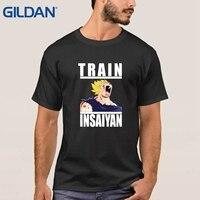 Dbz 기차 Insaiyan 슈퍼 드래곤 볼 Z 탱크 육군 그린 티 셔츠 선물 느슨한 옴므 옴므 T 셔츠