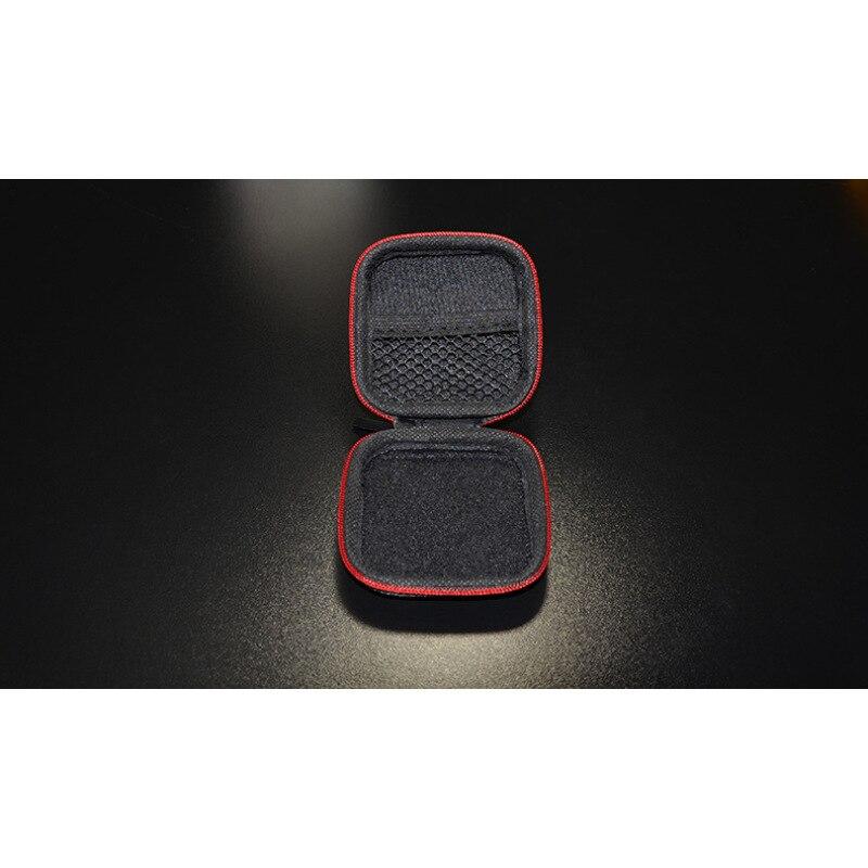 1 шт. черный PU углерода Волокно молнии наушники Жесткий Чехол sd-карта сумка для переноски держать в поле s2