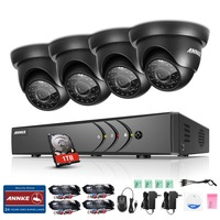 ANNKE 8CH 1080P HDMI 720P CCTV Security System DVR With 1TB HDD And 4pcs 720P 1200TVL