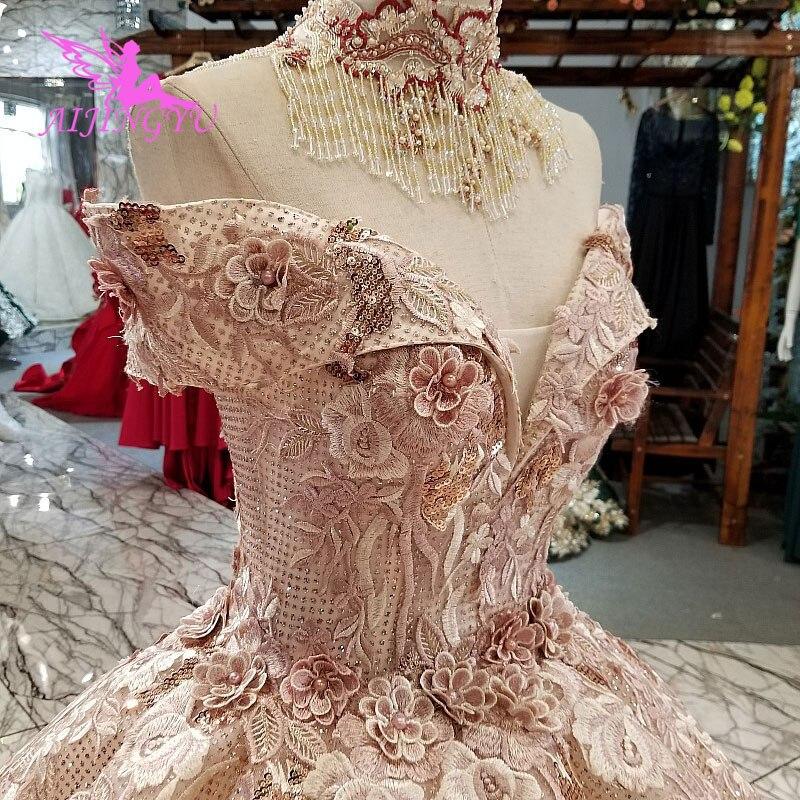AIJINGYU Best Bridal Gown Frocks White Vintage Brush Luxury Best Beautiful Gowns Online Sparkly Wedding Dress