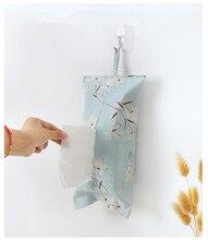 1PC Hanging Fabric Linen Coto Paper Towel Box Bedroom Living Room Napkin Dispenser Holder Cover Tissue OK 0749