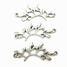 10Pcs Antique Silver Tone Connectors Pendants Flower Buds Metal Craft Jewelry DIY Finding Accessories Charms 38mm