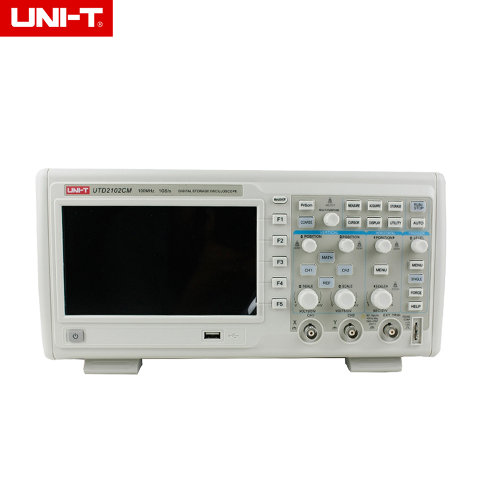 UNI- T UTD2102CM Dual Channels 100MHz 1GS/s Digital Storage Oscilloscopes Dso 7 Tft Lcd Scopemeters 16Mpts & Usb