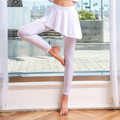 Asymmetry Skirt Yoga Pants Sport Tights Women Sports Clothing Fitness Outdoor Running Lady Yogas Leggings Wear White Black 2019