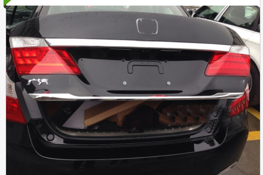 CHROME REAR CARGO TRUNK LID TRIM FOR HONDA ACCORD Sedan 2013 2014 car rear trunk security shield cargo cover for volkswagen vw tiguan 2016 2017 2018 high qualit black beige auto accessories