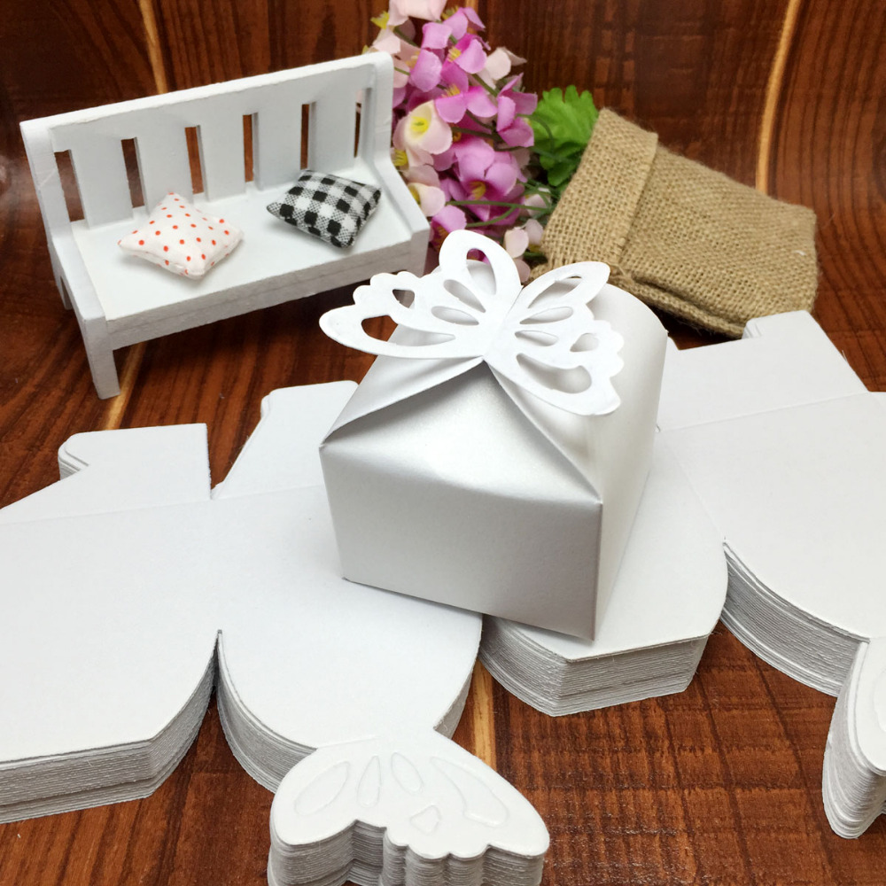 50 pieces decoupage paper Butterfly wedding candy box chocolate ...
