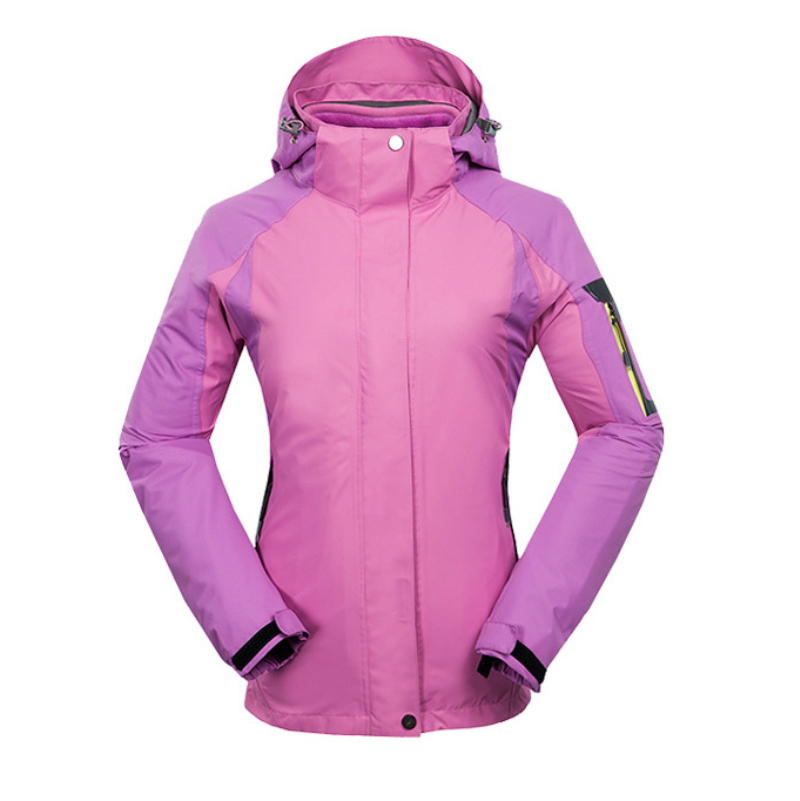 Фотография New Womens 3in1 Outdoor Hiking Climbing Coat Waterproof Windstopper Winter Jacket Women Detachable Fleece Inner Jaqueta Feminina