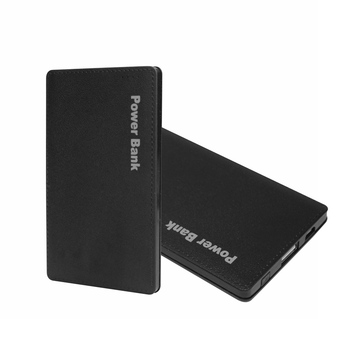 Black Ultra-thin Power Bank 5600mAh Li-Polymer External Battery Pack portable charger powerbank for all phone