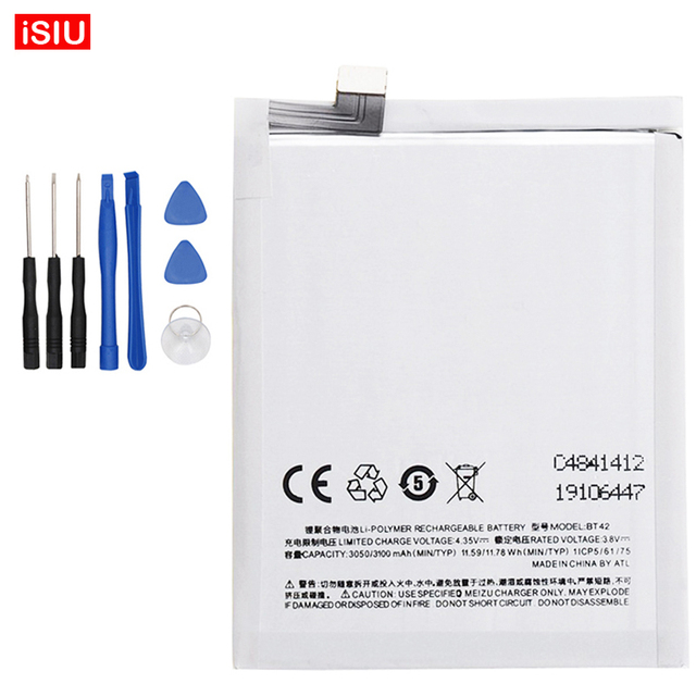 For Meizu M1Note Bateria 3100mAh BT42 New Battery For Meizu M1 Note + Tools