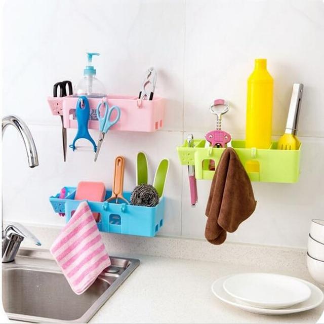 kitchen storage racks industrial faucets hot sale self adhesive plastic bathroom toilet cosmetics wall rack free