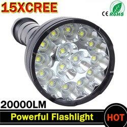 Potente linterna LED lúmenes más brillantes linterna led linternas 15 x XM-T6 LED linterna LED superbrillante impermeable