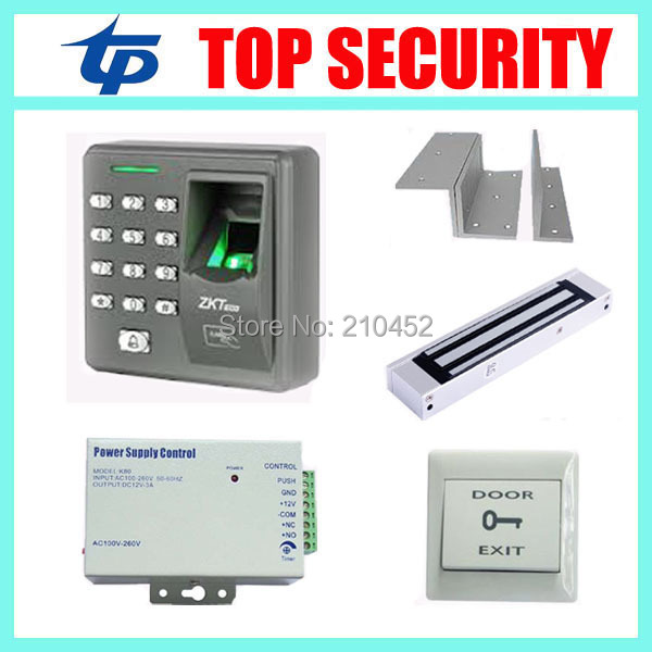X6 Standalone Fingerprint Access Controller access control panel with power supply EM lock and exit button biometric fingerprint access controller tcp ip fingerprint door access control reader