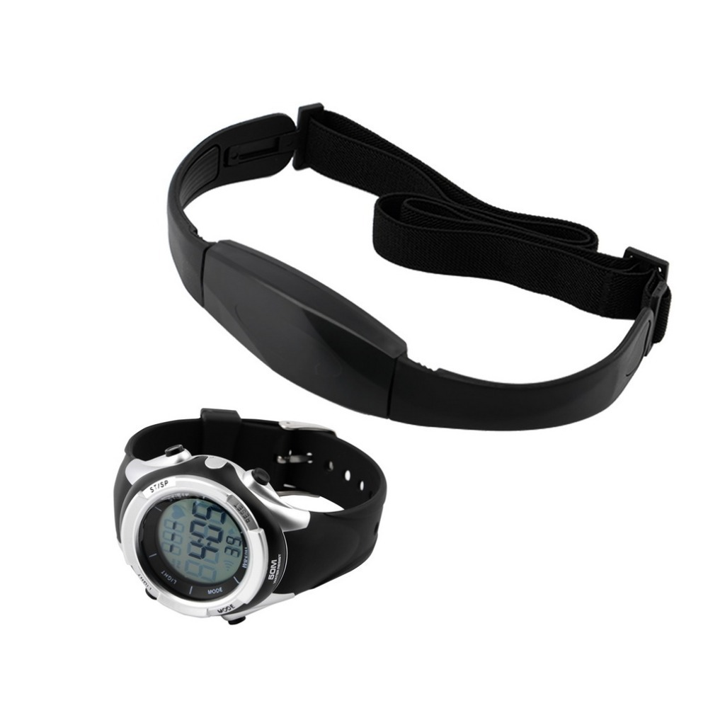 OUTAD 1 Set Chest Transmitter Strap Digital Watch Outdoor Cycling Sport Wireless Heart Rate Monitor Fitness