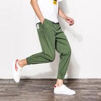 2017 Summer Grey Casual Men Trousers Hommer Army Cargo Pants Men Joggers Elastic Waist Sweatpants Big