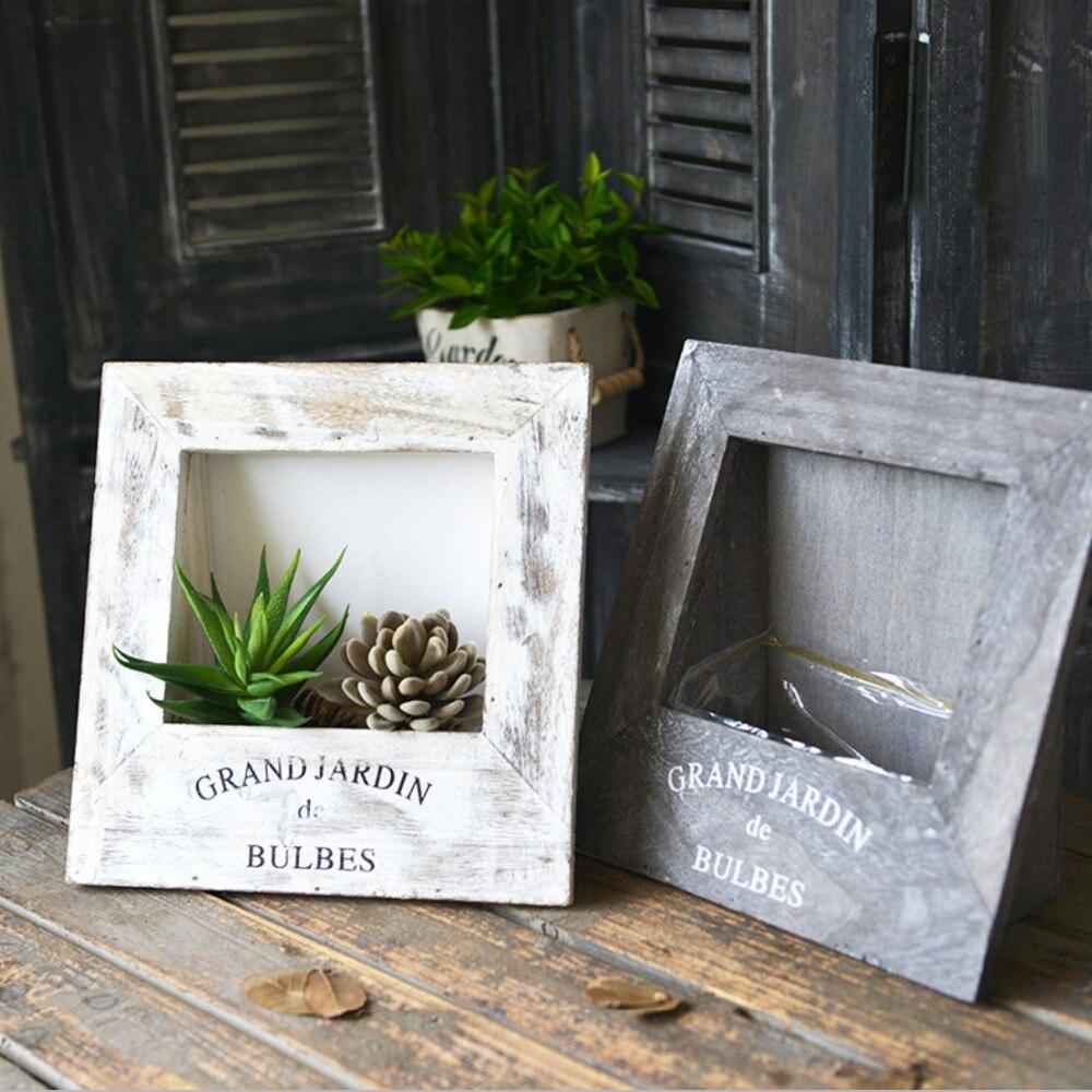 Vintage Style Holz Pastoralen Tischrahmen Form Blume Blumentopf Pergola  Garten Pflanzen Indoor Blume Bonsai Dekoration   WLOG.ME