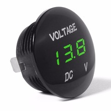 Car Motorcycle DC12V-24V LED Panel Digital Voltage Meter Display Voltmeter -W10
