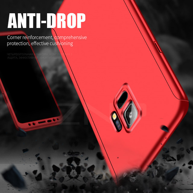 ZNP 360 Degree Shockproof Phone Case For Samsung Galaxy