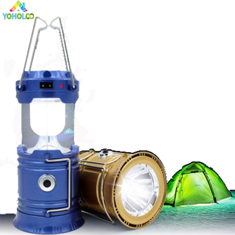 1 pc for Camping Solar Portable Lamp Outdoor Tent Camping Light Survival Kit for Emergency Solar Power Collapsible Lantern