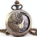 2017 Unisex Relógio de Bolso Roman Padrão Moda Steampunk Retro Vintage Mecânico Automático Oco Pointer com Pingente Cadeia