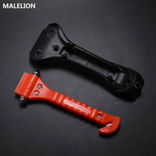 Mini Portable Car Safety Hammer Life Saving Escape Emergency Seat Belt Cutter Window Glass Breaker Rescue Red