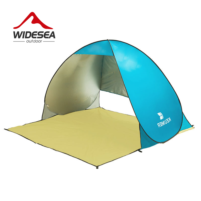 WIDESEA pop up open beach tent UV-protect gazebo waterproof quick open shade canopy for beach outdoor fishing camping
