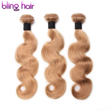 Bling Hair Peruvian Body Wave 27 Color Ombre Hair Weave Non-Remy Human Hair 3 Bundles Great Value For Salon Hair Extensions