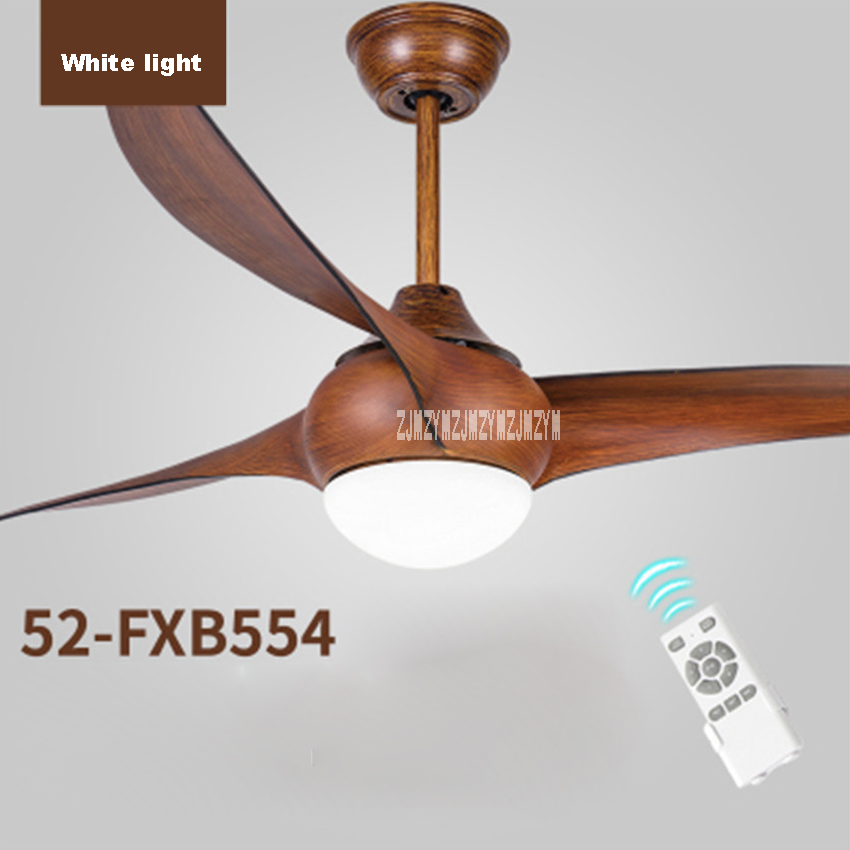 Ceiling Fans Ceiling Fan Variable Frequency Led Light 52 Inch European Living Room Fan Lamp 3 Leaves 5 Stalls Remote Control 110-240v 15-75w Easy To Use