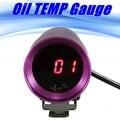 2015  37mm Oil Water Temp Temperature Gauge Universal Micro Digital Red LED Sensor 50~150 Smoke Lens
