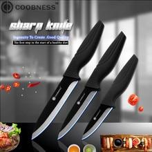 COOBNESS бренд Professional 3 «4» 5 «6» Керамический нож высшего класса черный клинок черная ручка кухонный нож 3 шт. набор только для продажи