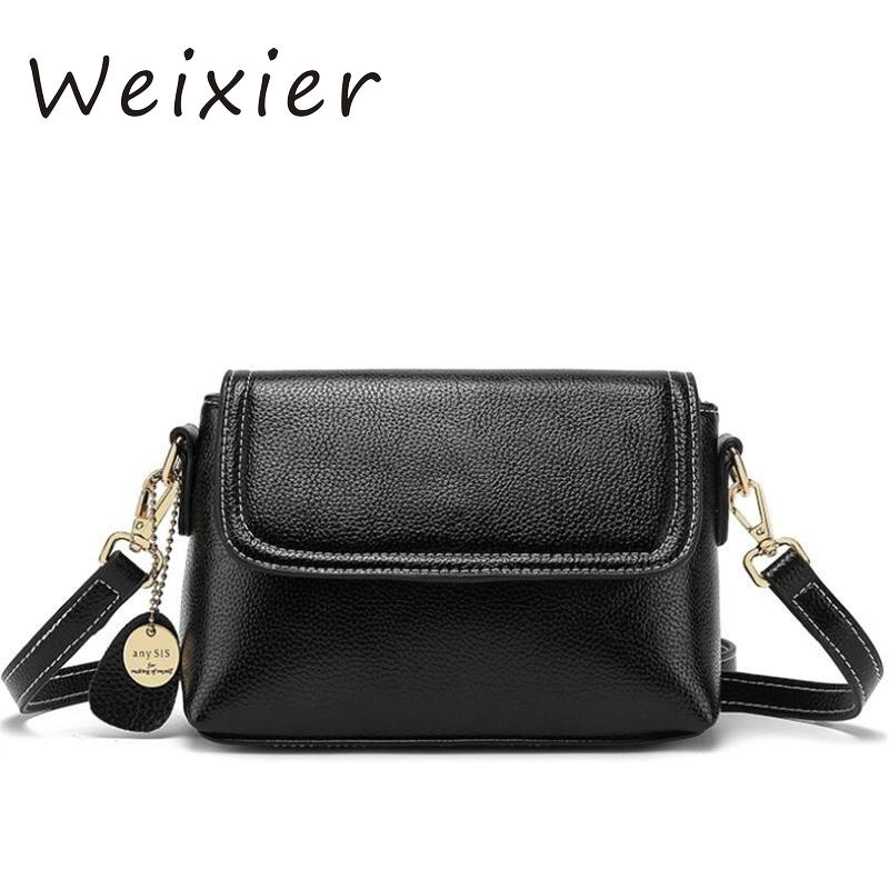 WEIXIER Fashion Women Genuine Leather Small Flap Shoulder Bags Brand Designer Female Evening Party Clutch Bags NS-56 1