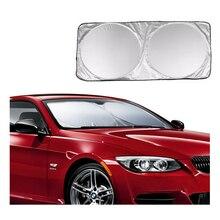 Araba ön arka cam güneşlik Dashboard kapak Visor cam ön pencere güneş gölge katlanabilir kapak evrensel araba aksesuarları