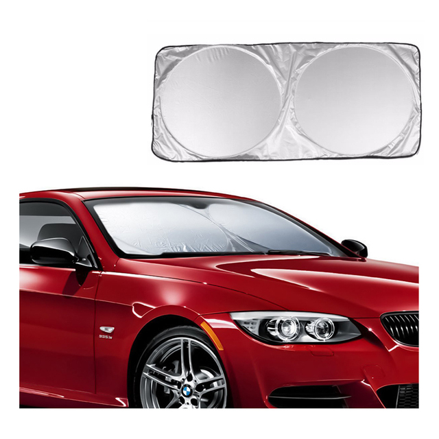 Car Front Rear Windshield Sunshade Dashboard Cover Visor Glass Front Window Sun Shade Foldable Cover Universal Car Accessories