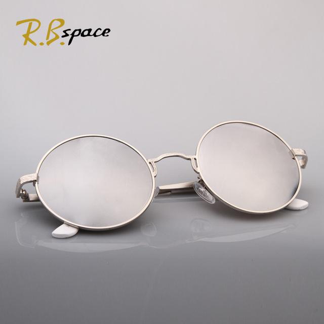 RBspace 2017 nueva llegada de la manera de la vendimia círculo caja redonda de metal anti-ultravioleta gafas de sol gafas de sol femeninas hembra multicolor espejo