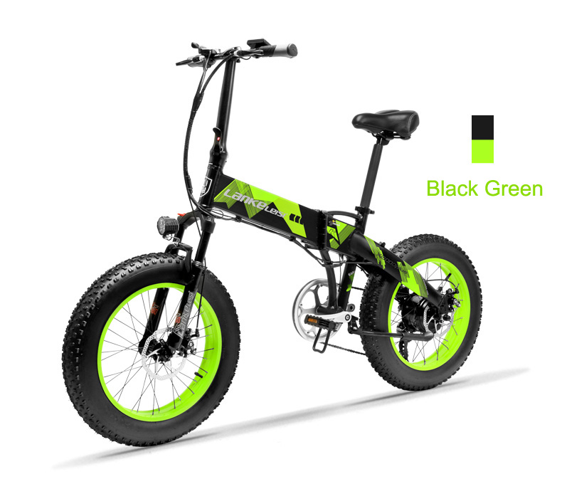 HTB12C3bajzuK1Rjy0Fpq6yEpFXa3 20 Inch Folding Mountain Bike 500W 48V 14.5Ah Lithium Battery Fat Bike Electric Bike 5 Level Pedal Assist Suspension Fork