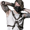 Fashion Punk Retro Men Women Leather Masks Vintage Punk Motorcycle Mask Cosplay Party Casual Masks