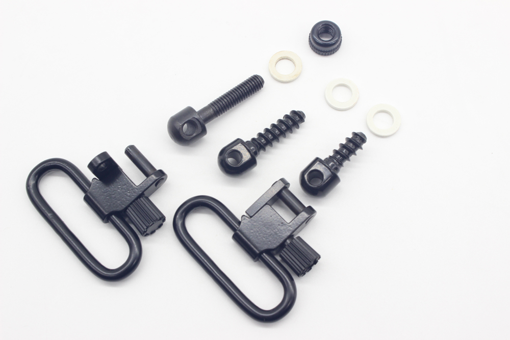 TriRock 1.25 Rifle Gun Sling Swivels Mounting Set Studs/Screws/Nuts Quick Detach Free Shipping
