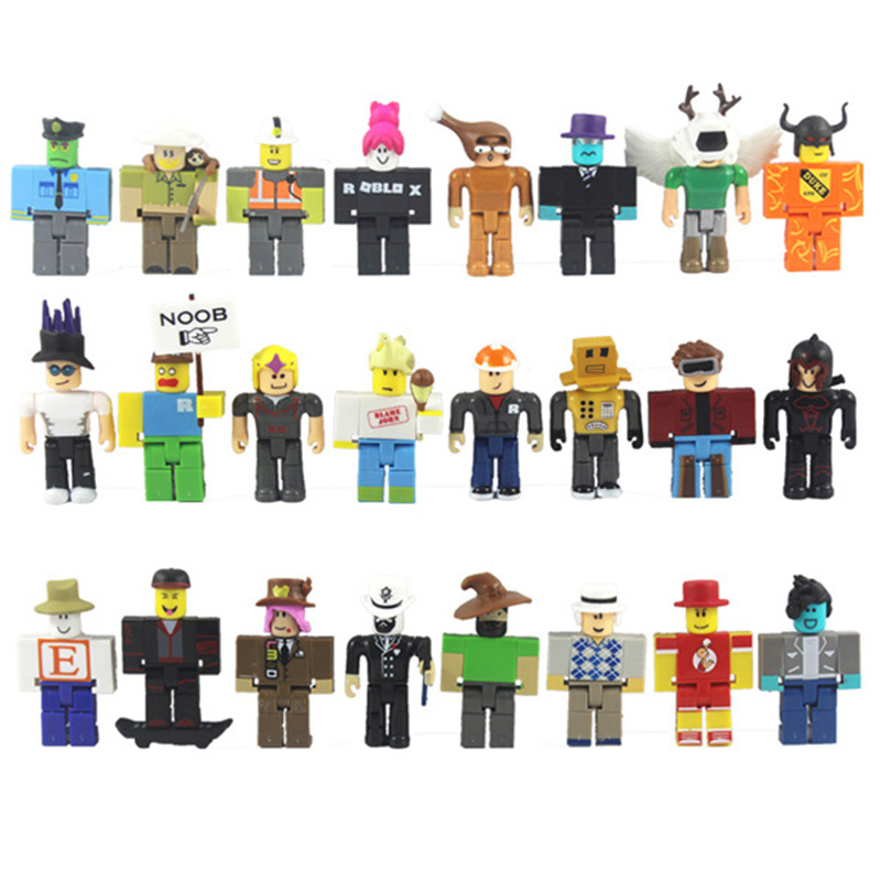 24pcs Set Roblox Jugetes Game Figma Oyuncak Action Figure Toys with