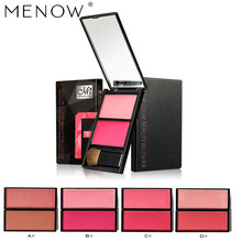 MENOW 2017 New Blusher Women Shimmer Matte Double Color Mineral Powder Make Up Face Contour Bronzer Blush Makeup Palette