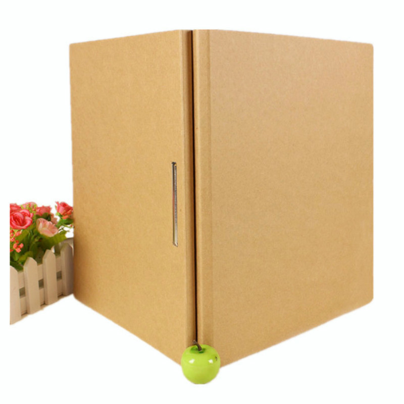 5 Pcs 235X315X10MM Kraft Two Hole A4 Paper Capa-citor Punch Folder Environmental Protection Chuck Data Mix Customized Printing