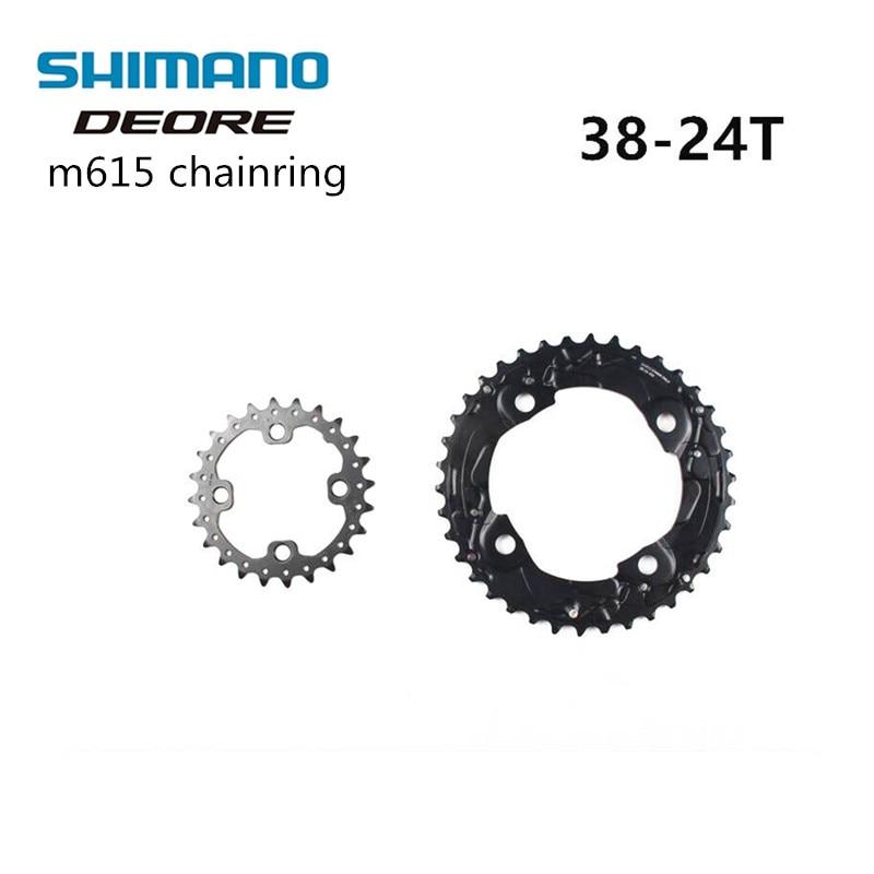 Shimano Deore Originol M610 M615 2x10 Speed 38-24T MTB Crank Chainring 20s Speeds Bike Bicycle Crown Mountain Bike 38T & 24T shimano deore xt 22 speed mountain bicycle crank set fc m8000 b2 175mm 34 24t