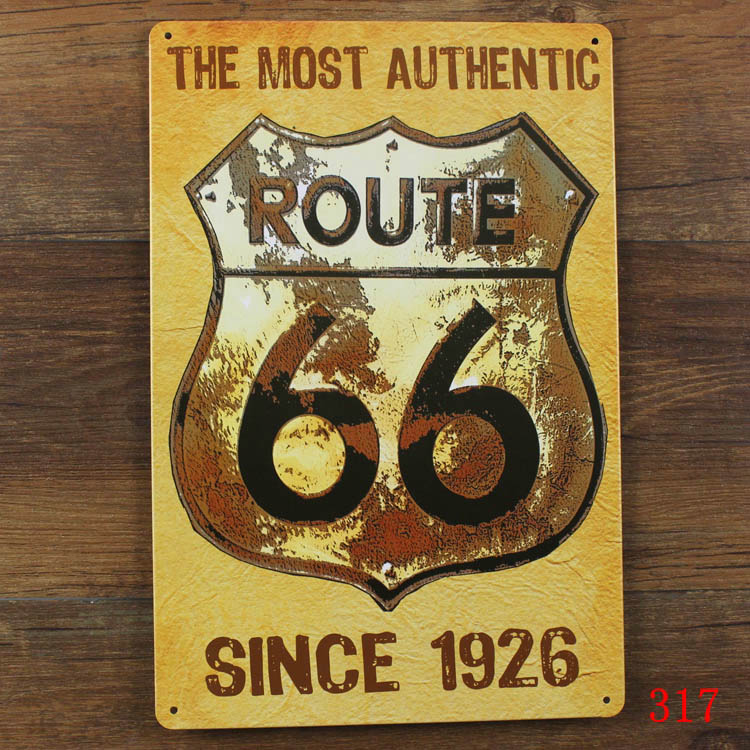 Route 66 Metal Wall Art Imax Motorcycle Dimensional Metal Wall Art