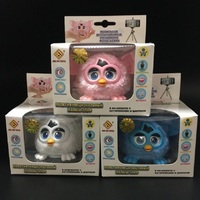New Electronic Toys Phoebe 7 Color Electric Pets Owl Elves Plush Toys Recording Talking Toys Christmas
