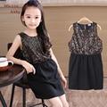 Hot Sequins Dresses For Girls Black Princess Girls Clothing Summer Kids Party Costume Toddler Children Vestidos