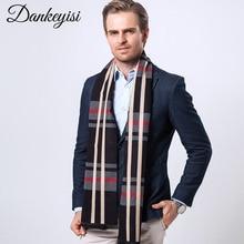 Dankeyisi бренд зимний шарф Для мужчин теплые Шарфы для женщин плед бандана Одеяло шарф длинный мужской платки бизнес Повседневное Шарфы для женщин