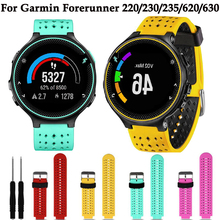 For Garmin Forerunner 220/230/235/620/630 Wrist band Replace Sport Soft silicone watch band bracelet strap New smart Accessories