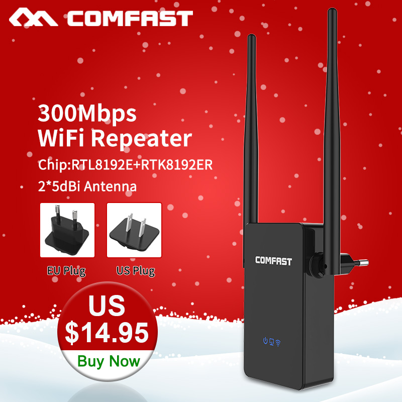 Comfast CF-WR302SWireless WIFI Router Repeater 300M 10dBi Antenna Wi Fi ազդանշանային կրկնակ 802.11N / B / G Roteador Wi-fi Rang Extender