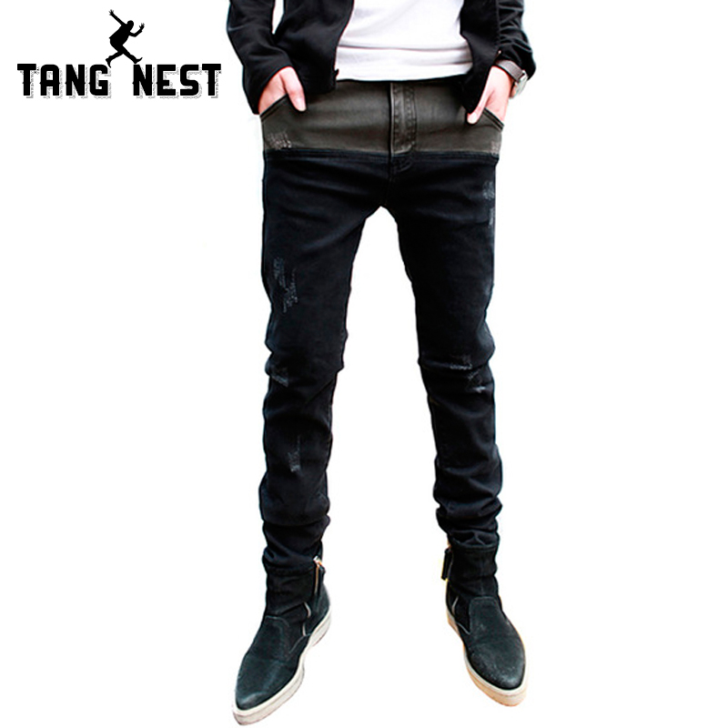 2016 new jeans pants men designer jeans casual pants mid ...